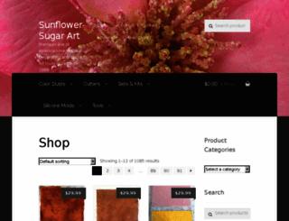 sunflowersugarartusa.com screenshot