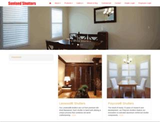 sunlandshutters.com screenshot