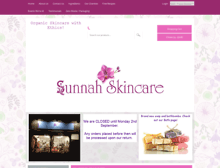 sunnahskincare.co.uk screenshot