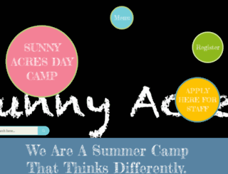 sunnyacresdaycamp.com screenshot