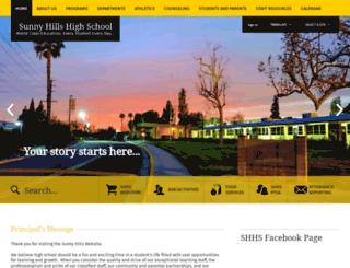 sunnyhills.net screenshot