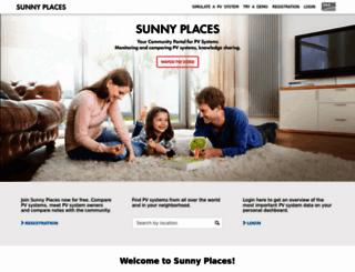 sunnyplaces.com screenshot