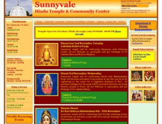 sunnyvale-hindutemple.org screenshot