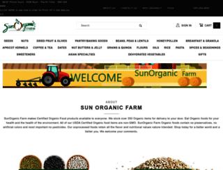 sunorganic.com screenshot