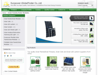 sunpower-globalfinder.com screenshot