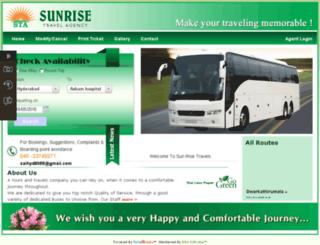 sunrisebus.in screenshot