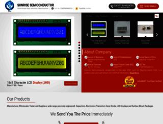 sunrisesemiconductor.in screenshot