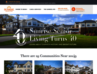 sunriseseniorliving.com screenshot