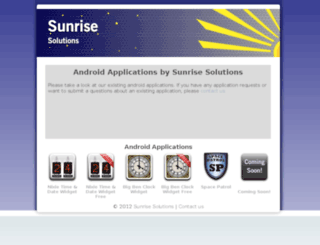 sunrisesol.co.uk screenshot