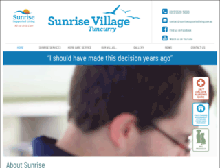 sunrisesupportedliving.com.au screenshot