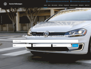 sunrisevolkswagen.com screenshot
