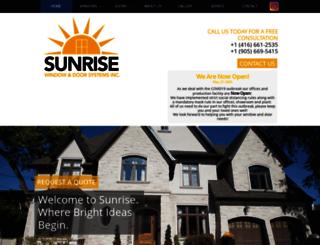 sunrisewindow.com screenshot