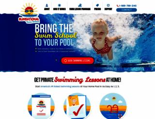 sunsationalswimschool.com screenshot