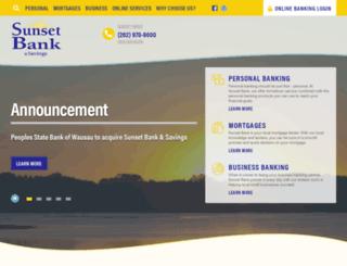 sunsetbankandsavings.com screenshot