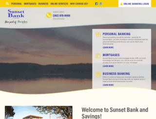 sunsetbankandsavings.forbinhosting.net screenshot