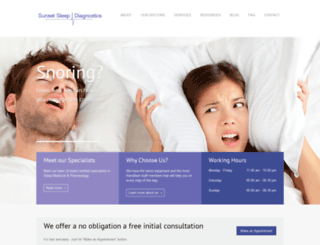 sunsetsleepdiagnostics.com screenshot