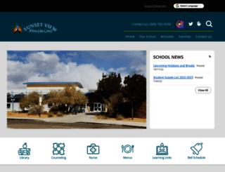 sunsetviewes-aps-nm.schoolloop.com screenshot