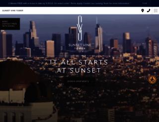 sunsetvinetower.com screenshot
