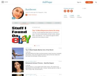 sunseven.hubpages.com screenshot