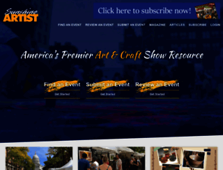 sunshineartist.com screenshot