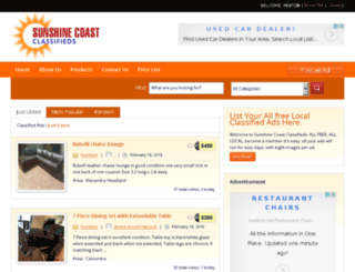 sunshinecoastclassifieds.com.au screenshot