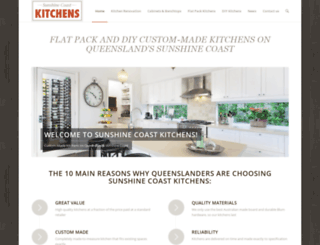 sunshinecoastkitchens.com.au screenshot