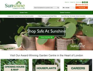 sunshinegardencentre.co.uk screenshot