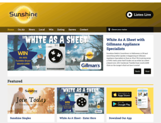sunshineradio.co.uk screenshot