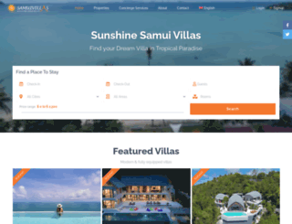 sunshinesamuivillas.com screenshot