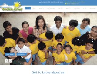 sunshineschool.org.in screenshot