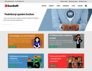 sunsoft.sk screenshot