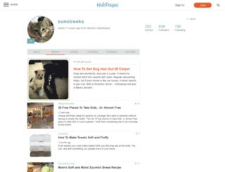 sunstreeks.hubpages.com screenshot