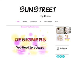 sunstreetbymonica.blogspot.it screenshot