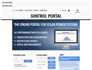 suntrol-portal.com screenshot