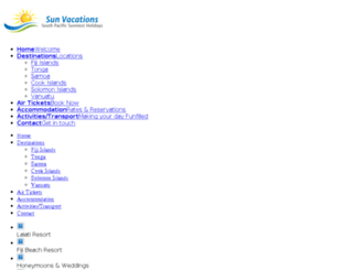 sunvacationsfiji.com screenshot