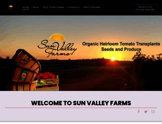 sunvalleyfarms.com screenshot