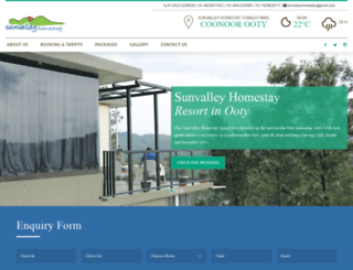 sunvalleyhomestay.com screenshot