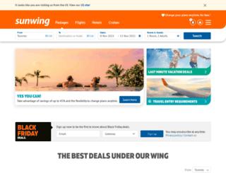 sunwingvacations.ca screenshot
