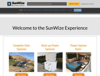sunwizeconnect.com screenshot