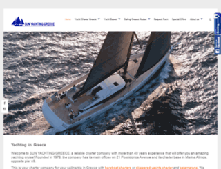 sunyachting.gr screenshot