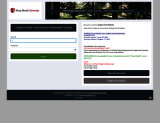sunysb.sona-systems.com screenshot