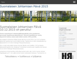 suomalainenjohtaminen.fi screenshot