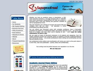 supaproofread.com screenshot