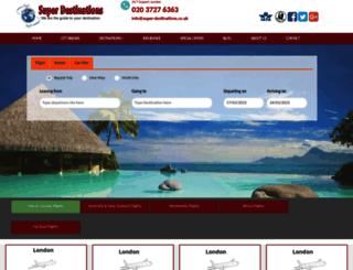 super-destinations.co.uk screenshot