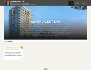 superagentkim.pressfolios.com screenshot