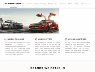supercars.org.in screenshot