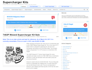 superchargerkits.org screenshot