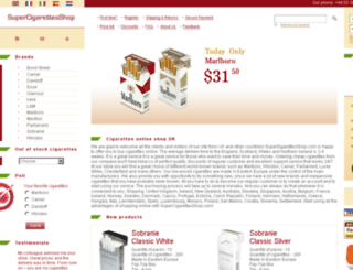 supercigarettesshop.com screenshot