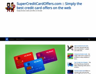 supercreditcardoffers.com screenshot