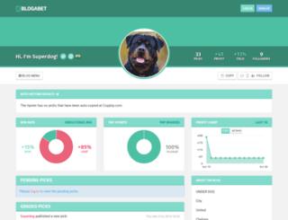 superdog.blogabet.com screenshot
